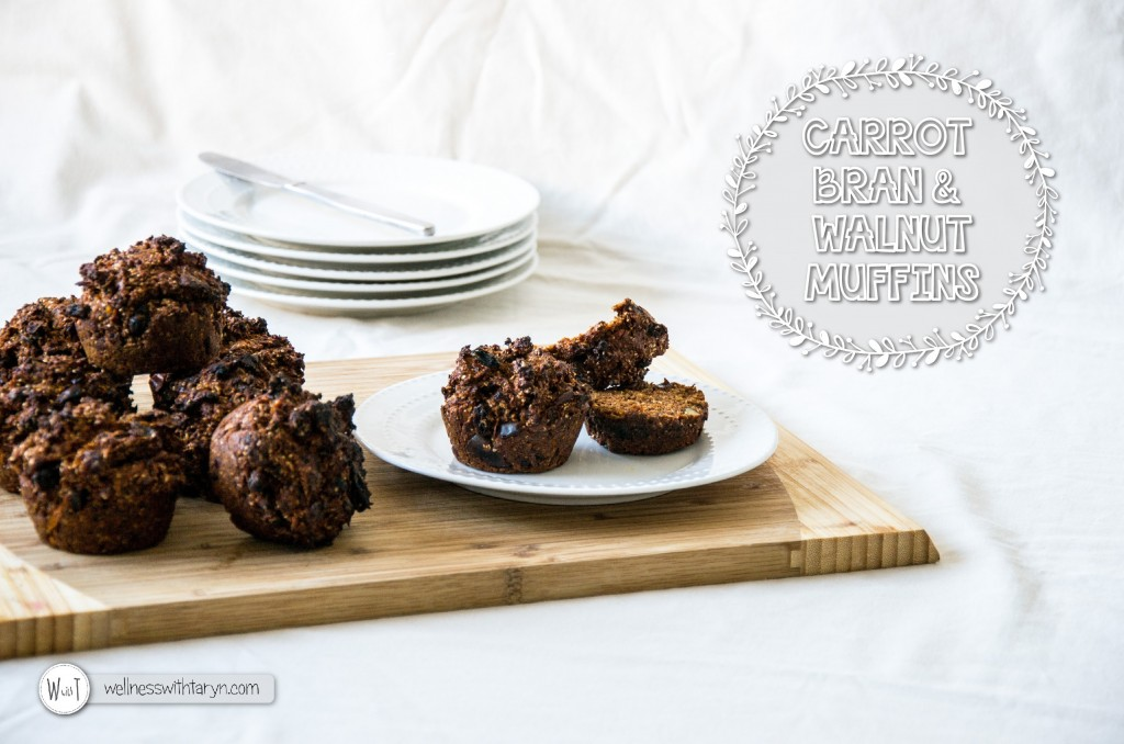 Carrot Bran and Walnut Muffins