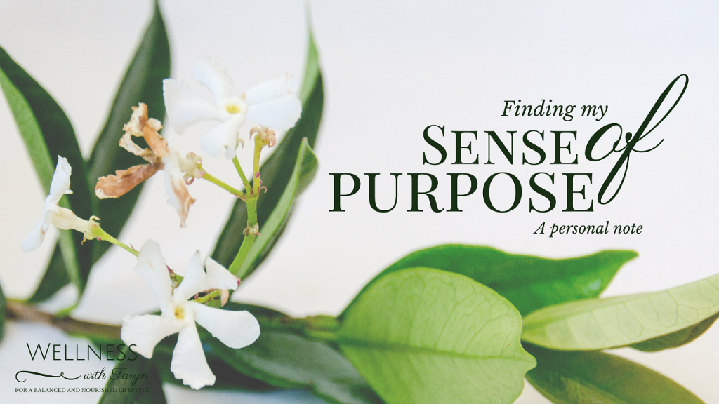Finding my Sense of Purpose