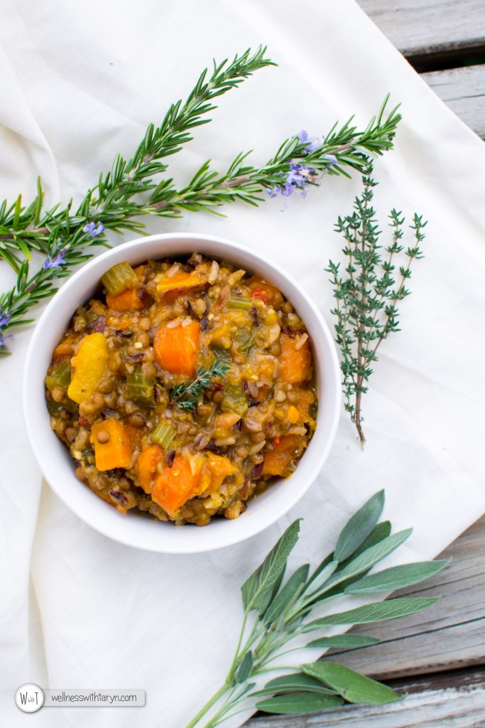 Chunky Lentil and Wild Rice Soup-1