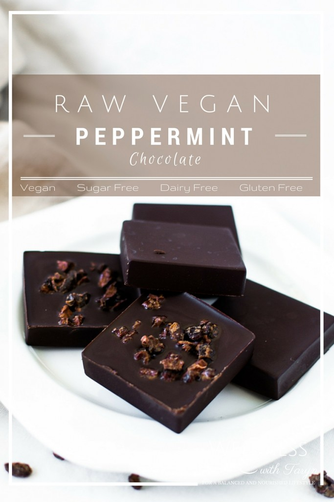 Raw vegan peppermint chocolate