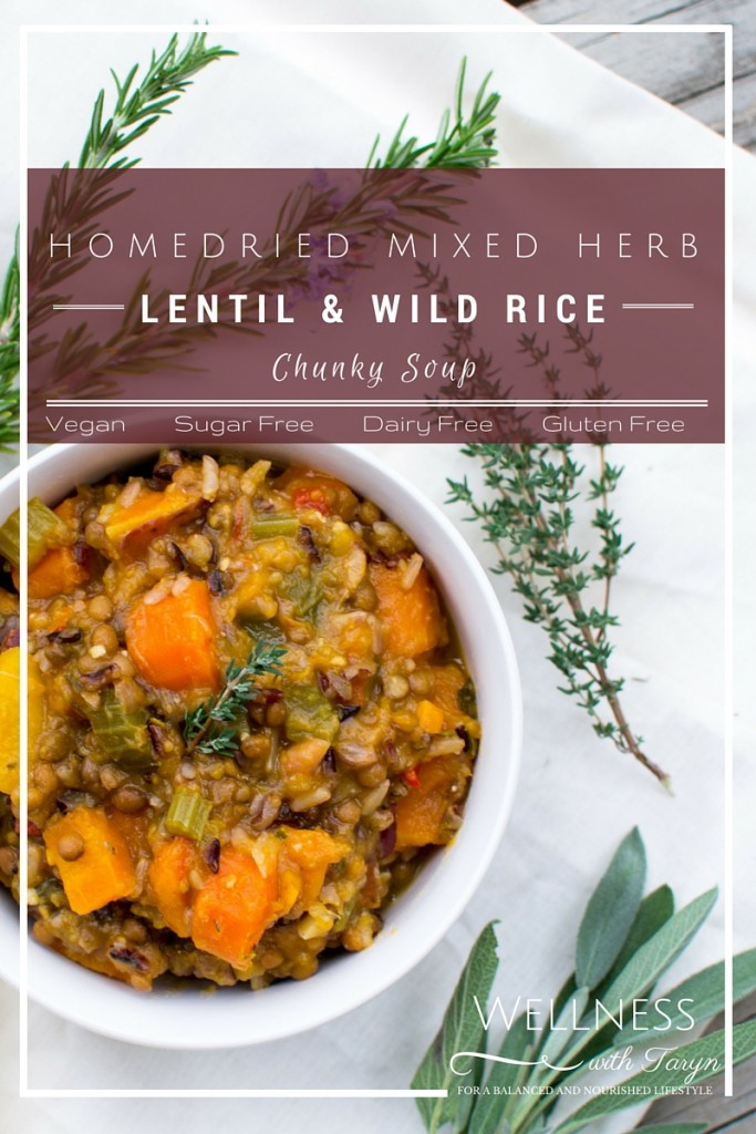 Mixed Herb Lentil and Wilde Rice Chunky Soup