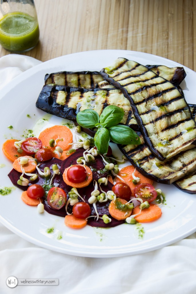 Grilled aubergine with lemon basil dressing (16 of 29)
