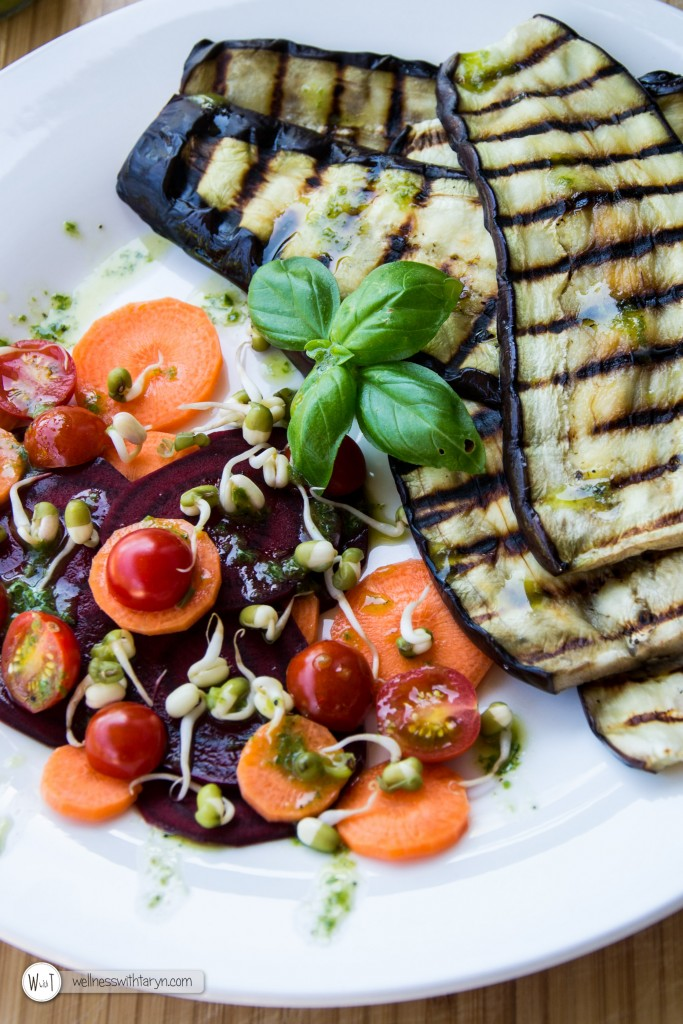 Grilled aubergine with lemon basil dressing (18 of 29)