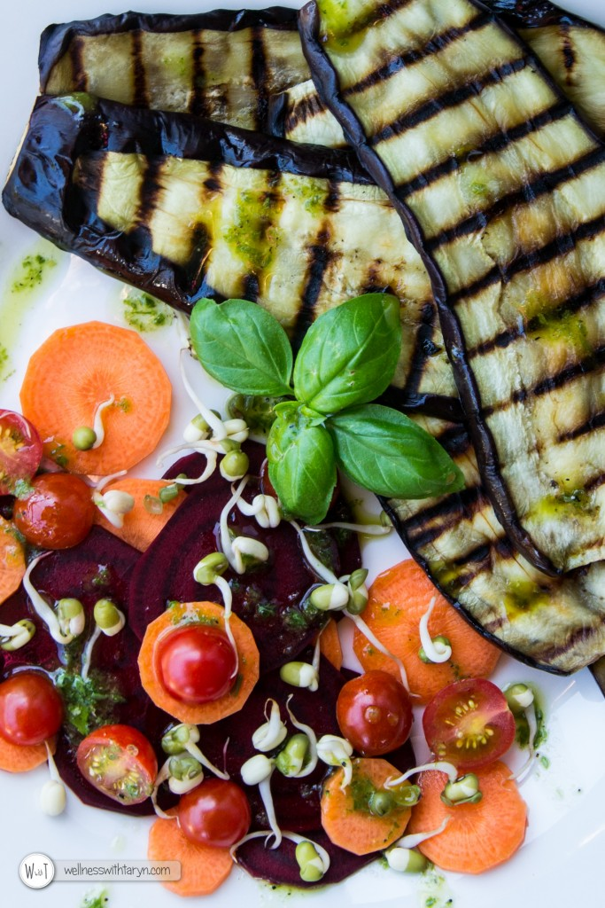 Grilled aubergine with lemon basil dressing (21 of 29)