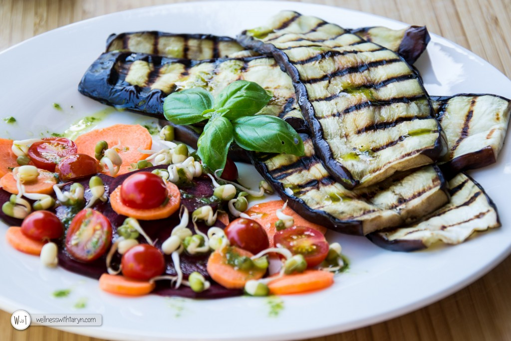 Grilled aubergine with lemon basil dressing (26 of 29)