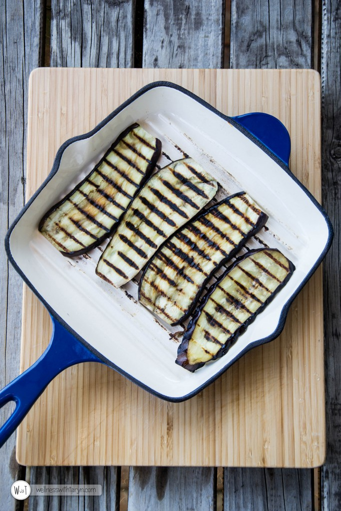 Grilled aubergine with lemon basil dressing (8 of 29)