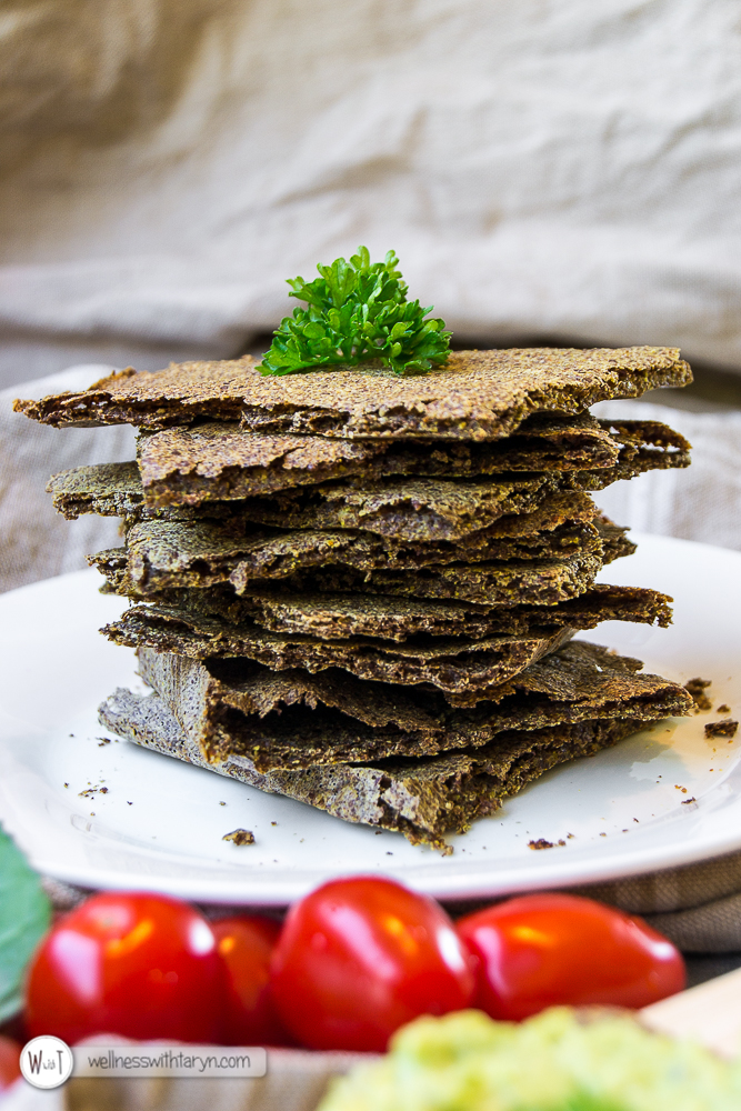 Savory Flax Crackers-32