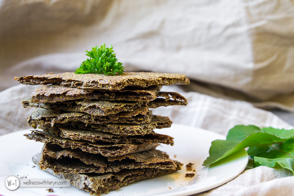Savory Flax Crackers-33