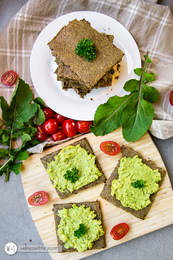 Savory Flax Crackers-38