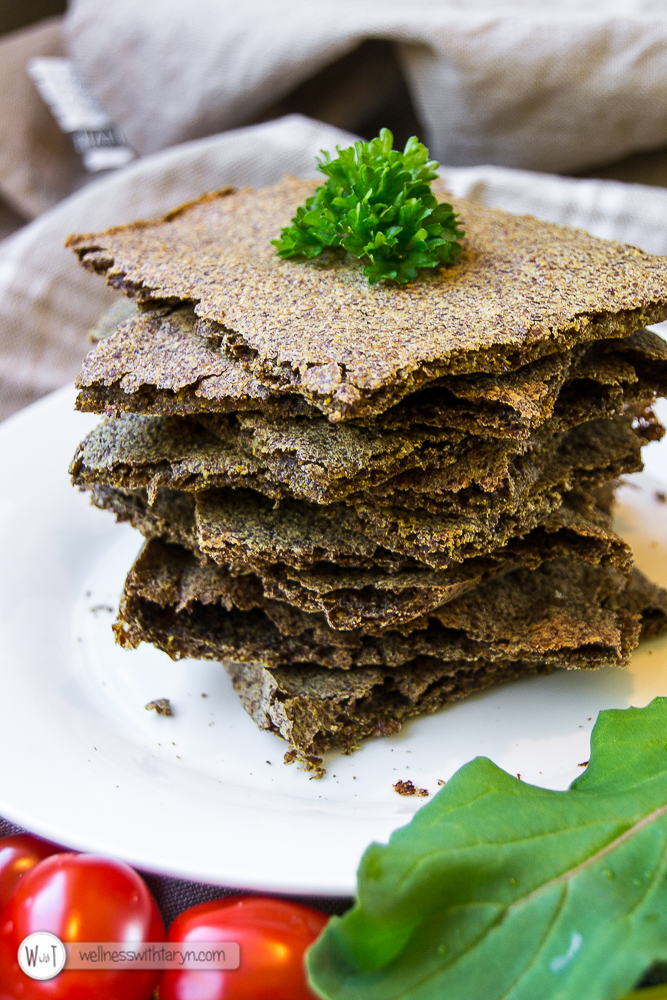 Savory Flax Crackers-46