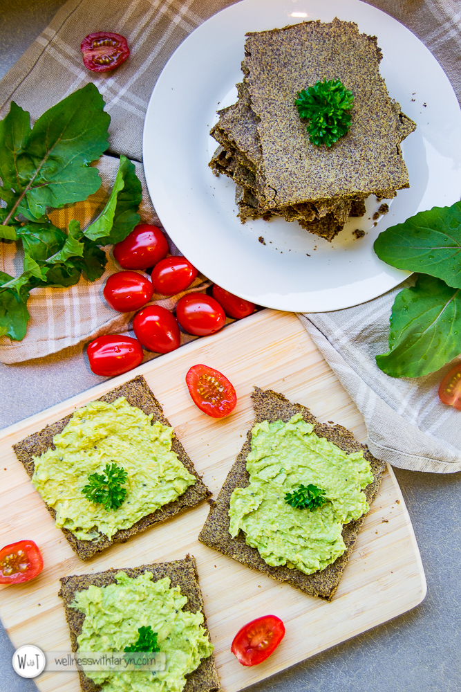 Savory Flax Crackers-9